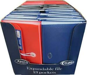 Bulk Buy Expanding File Check Size 13 Pockets Assorted Colors Case Pack Of 48