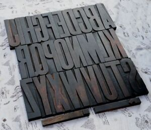 Giant A z Alphabet 8 86 Letterpress Wood Printing Blocks Type Abc Exceptional