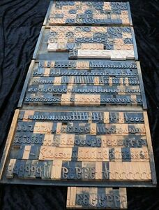 357pcs 3 54 Letterpress Wood Printing Blocks Wooden Alphabet Type Font Print