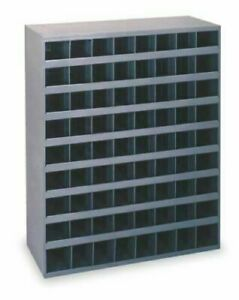 Steel Bin Shelving 72 Pigeonhole Compartments Parts Fittings Nut Bolt Storage
