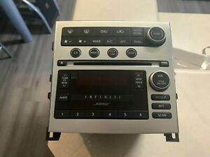 05 06 07 Infiniti G35 Gps 6 Cd Mp3 Player Changer Ac Climate Control Panel Oem
