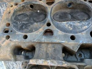 Sbc Pair Of 3782461 Small Block Chevy Cylinder Heads Camel Hump Fulie 64 Cc