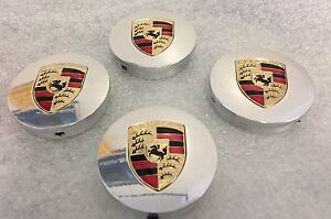 Hre Wheel Center Caps Custom For Porsche Polished Clearfit All Series Size 2 5