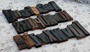 Giant A z Mixed Alphabet 8 86 Letterpress Wood Printing Blocks Type Abc Rare