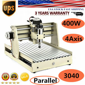 4 Axis 400w 3040 Cnc Engraving Drilling Milling Machine Router Engraver Ups Hot