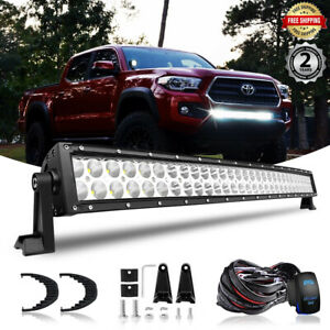 31 5 32inch Led Light Bar W wiring Kit Fit 2016 207 Toyota Tacoma Lower Bumper