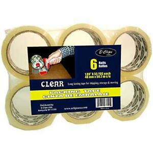 Packing Tape Clear 1 89 x 55 Yds 6 Pk Case Pack Of 8 Ideal For Bulk Buyers