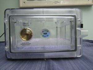 Secador Clear Horizontal Desiccator Cabinet 15 X12 X8 Dessicant Included
