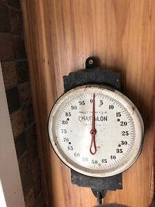 Chatillon 100lb Hanging Produce Scale Farm Stand General Store Antique