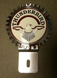 New Vintage Thunderbird License Plate Topper Chromed Brass Great Gift Item