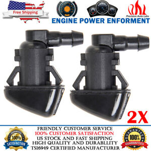 2x Windshield Washer Nozzle For Ford F250 F550 2008 2010 Super Duty 7c3z 17603 A