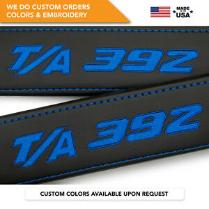 Dodge T A 392 Embroidery Charger Challenger Car Seat Belt Covers 2 Shoulder Pads