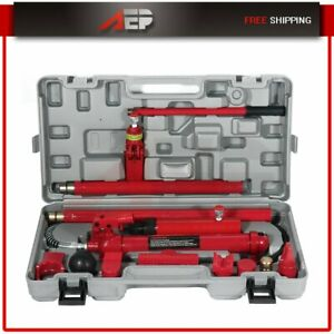 New Set Of Hydraulic Jack Body Frame Repair Kit Tools 10 Ton Porta Power Red