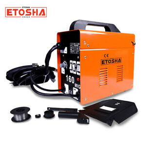 140 Mig Welder Flux Core Wire Gasless Automatic Feed Welding Machine Free Mask