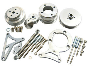 1979 1993 Ford Mustang 5 0l Pulley Bracket Kit Serpentine Billet Aluminum Cnc