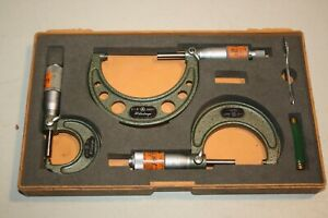 Mitutoyo Outside Micrometer Set 103 217 103 136 103 135