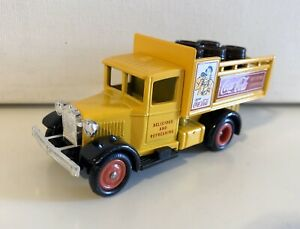 Coca Cola  Die-Cast Metal Toy -  Ford Delivery Truck (Yellow) - Made In England