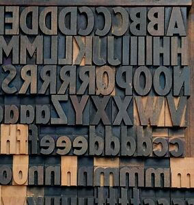 Letterpress Wood Printing Blocks 154pcs 1 42 Tall Alphabet Wooden Type Woodtype