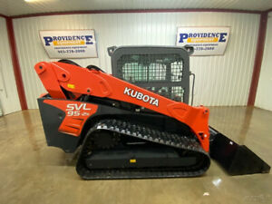 2018 Kubota Svl 95 2 Cab Skid Steer Track Loader 2 speed