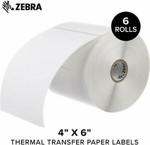 Zebra 10005852 Z perform 2000t Thermal Transfer Paper Barcode Labels 5 Roll Qty