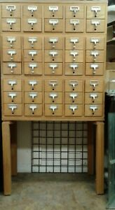 Library Card Catalogue Cabinet 40 Drawers