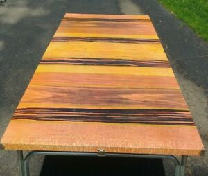 Beautiful Mid Century Modern Vintage Metal Folding Table Large 74 Inches Long