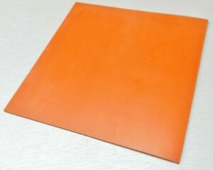 Silicone Rubber Sheet High Temp Solid Red orange Commercial Grade 18 x18 X1 8