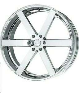 24 Inch 24x9 5 Ravetti Chrome Rims tires 6x5 5 6x139 7 30 local Pick Up Only