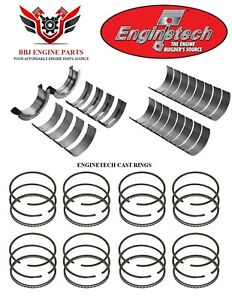 Ford 351 351c Cleveland 70 74 Enginetech Rod Main Bearings And Piston Rings