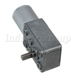 Dc 12v 5rpm Square Low Speed High Torque Turbo Worm Geared Motor Right Angle