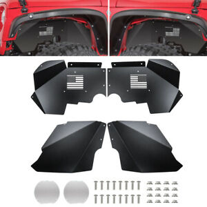 2pcs Front Inner Fender Liners Drive Passenger Side For Jeep Wrangler Jk 07 18