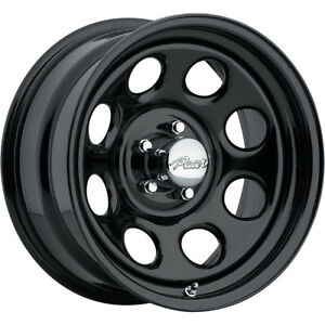 4 New 16x8 Pacer 297b Soft 8 Black Wheels Rims 12 5x4 50
