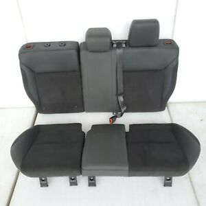 2018 Ford Focus Rs Rear Blue stitched Sport Alcantara Upper Lower Seats Set Oem