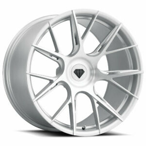 20 Blaque Diamond Bd F18 Silver Concave Forged Wheels Rims Fits Jaguar Xkr