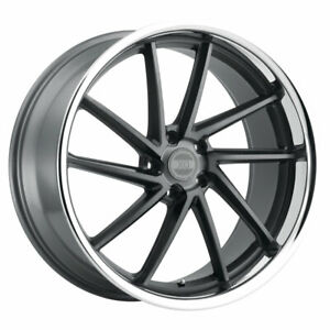 22 Xo Florence Grey 22x9 22x10 5 Deep Dish Wheels Rims Fits Dodge Charger