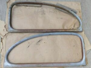 1941 1948 Ford 2 Door Sedan Quarter Window Garnish Moldings Original Pair Merc