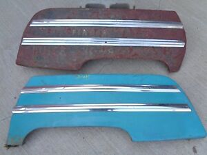 1946 1949 Buick Special Rear Fender Skirts W Trim Mouldings Original Gm Pair