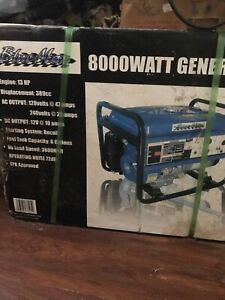 Blue Max Generator 8000 Watt 13hp 3600 Rpm New In Box Great Deal