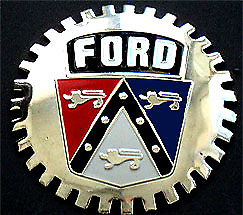New Ford Cartruck Crest Grill Grille Badge Chromed Brass Great Gift Item Fits 1955 Ford