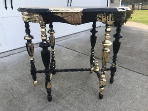 Vintage Entry Table Antique Hall Table Jacobian Revival Style Accent Table