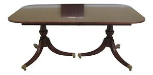 Lf48165ec Hickory Chair Co Duncan Phyfe Banded Mahogany Dining Table