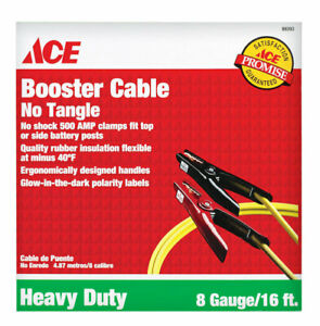 Heavy Duty Booster Cable Jumper Cables 8 Gauge 275 Amps 16 Ft 084666202