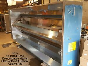 New 13 Cooking Island Exhaust Hood Demonstration Kitchen Fire Suppression Ansul