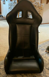 Pair Of Caravaggio Red black Leather Sport Racing Bucket Seats