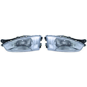 Fits 1997 2002 Mitsubishi Mirage Pair Head Lights Driver And Rh Coupe