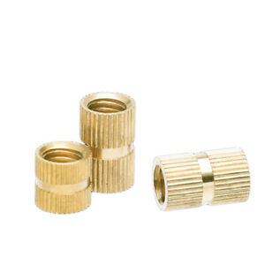 M6 M8 Brass Thread Inserts Nuts Copper Injection Plastic Knurl Nut Various Sizes