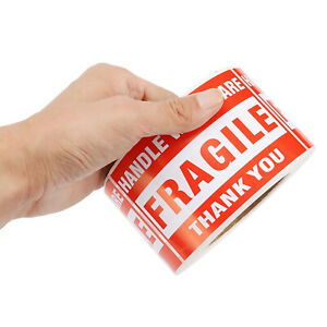 500 Pcs 3 x5 Fragile Stickers Handle With Care Warning Mailing Shipping Labels