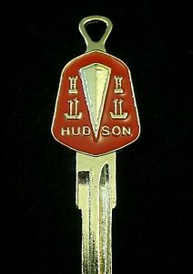 Hudson 2 sided Gold Crest Key Blank Fits All 1925 1957 Hornet Wasp