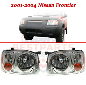 Headlight Assembly Left Right Set pair For 2001 2004 Nissan Frontier Base xe