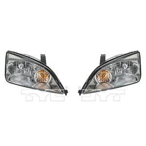 Fits 2005 2007 Ford Focus Headlight Pair Side dot Type
